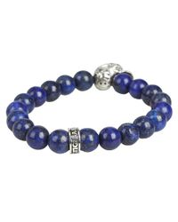 King Baby Studio | Blue Day Of The Dead Beaded Bracelet for Men | Lyst