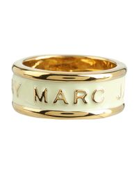 Marc By Marc Jacobs | Natural Classic Logo Band Ring | Lyst