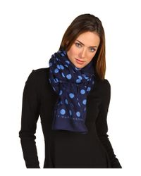 Marc By Marc Jacobs - Blue Hot Dot Silk & Cashmere Scarf - Lyst