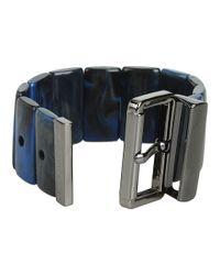 Marc By Marc Jacobs - Blue Predator Stretch Buckle Bracelet - Lyst