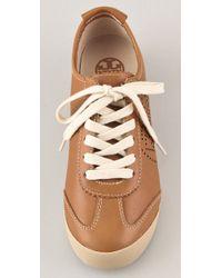 Tory Burch - Brown 'Murphey' Perforated Sneaker - Lyst
