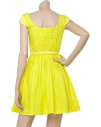 Twenty8Twelve - Yellow Osbert Ramie Pinstripe Dress - Lyst