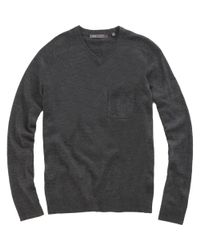 Vince - Gray V-neck Sweater for Men - Lyst