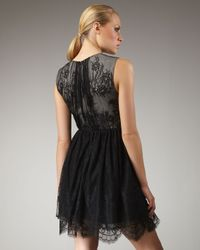 Tibi - Imperial Lace Dress in Black - Lyst