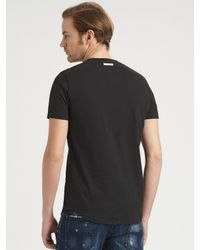 DSquared² | Black Abstract Print T-shirt for Men | Lyst