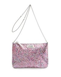 Mango Pink Touch - Sequin Messenger Handbag
