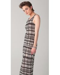 Acne Studios - Natural Colleen Striped Jersey Dress - Lyst