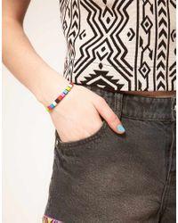 ASOS Collection - Multicolor Asos Coloured Cube Bracelet - Lyst