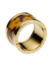 Michael Kors   Metallic Tortoise-design Barrel Ring   Lyst