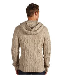 Vince   Natural Hooded Toggle Cardigan for Men   Lyst