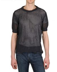 Dolce & Gabbana | Blue Cotton Mesh Net Sweater for Men | Lyst