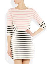 Markus Lupfer | Pink Charlotte Striped Cotton Dress | Lyst