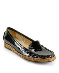 Stuart Weitzman - Geek Black Patent Loafer - Lyst