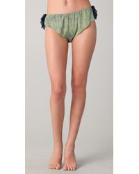3.1 Phillip Lim - Green Silk Bows Bikini Briefs - Lyst