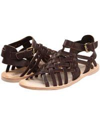 Alexander McQueen | Brown Leather Sandals for Men | Lyst