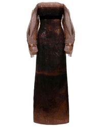 Carolina Herrera | Multicolor Off-shoulder Gown | Lyst