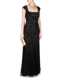 Elie Saab | Black Backless Sequin Gown | Lyst
