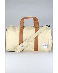 4b02bd2033 Lyst - Herschel Supply Co. The Novel Duffle Bag in Khaki   Tan in ...