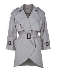 Preen Line | Gray Zoe Mia Mac Trench Coat | Lyst