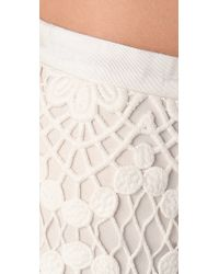 RED Valentino - White Crochet Cotton Knit Mini Shorts - Lyst