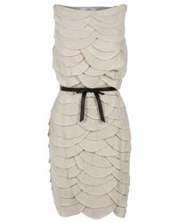 Robert Rodriguez | White Scallop Dress | Lyst