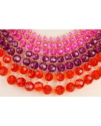 kate spade new york - Purple On The Avenue Bib Necklace - Lyst