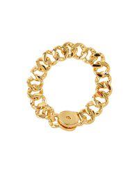 Marc By Marc Jacobs | Metallic Turnlock Small Katie Bracelet | Lyst