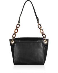 MILLY - Black Mina Chain-strap Leather Shoulder Bag - Lyst