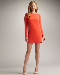 Tibi   Red Slit-back Shift Dress   Lyst