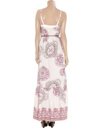 Tibi | Pink Printed Silk Maxi Dress | Lyst