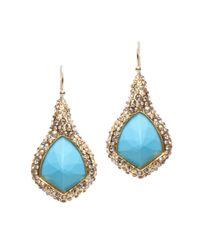 Alexis Bittar Blue Crystal Encrusted Turquoise Earrings