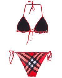 Burberry Brit Multicolor Checked Bikini