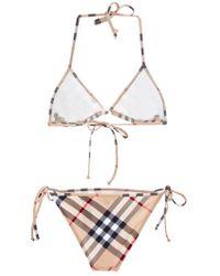 Burberry Brit Natural Checked Bikini