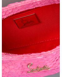 Christian Louboutin Pink Python Clutch