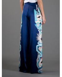 Holly Fulton Blue Hands and Gun Print Trousers