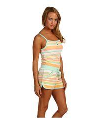 Juicy Couture - Multicolor Vintage Stripe Terry Keyhole Romper - Lyst