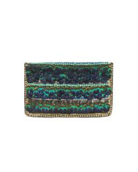 Matthew Williamson | Multicolor Peacock Feather Clutch Bag | Lyst