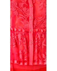 Nanette Lepore - Pink Cotillion Lace Top - Lyst