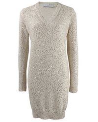 Stella McCartney | White Sequined Sweater Dress | Lyst