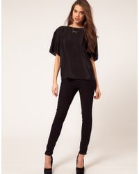 ASOS Collection - Black Asos T-shirt with Harness Back - Lyst