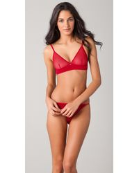 Cheap Monday | Red Mesh Triangle Bra | Lyst