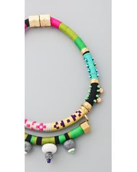 Holst + Lee - Green Collar with Stones - Lyst