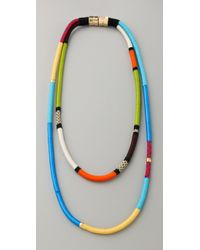 Holst + Lee Multicolor Two String Multi-strand Necklace