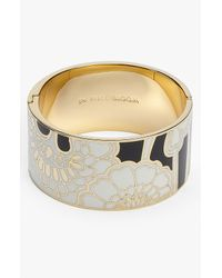 kate spade new york | Metallic Idiom Wide Hinged Bangle | Lyst
