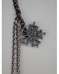 Lanvin Gray Chain Necklace