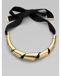 Marc By Marc Jacobs - Metallic Twisted Metal Ribbon Necklace - Lyst