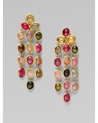 Marco Bicego - Metallic 18k Gold Multi-color Sapphire Chandelier Earrings - Lyst