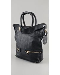 See By Chloé Black Tomo Small Double Function Bag