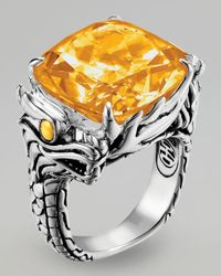 John Hardy - Orange Naga Batu Ring, Citrine - Lyst