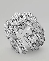 John Hardy - Metallic Bamboo Cluster Flex Cuff - Lyst